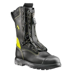Haix Fire Flash Gamma Leather Safety Work Firefighter Boots Cut Resistant Class2