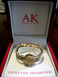 ANNE KLEIN Hidden Dial Bracelet watch  DIAMOND accent - boxpapers - giftable!
