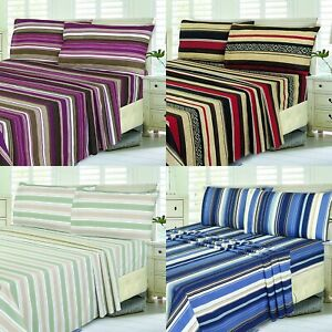 Fitted Bed Sets Flat Sheets 1900 Series 16 Deep Pocket Wrinkel Free Poly Cotton