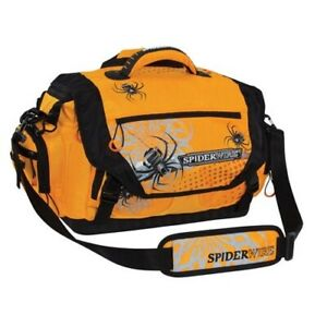 ✔Spiderwire Soft-Sided Fishing Tackle Bag with 4 large utility lure box storage