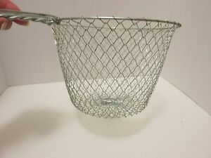 Kitchen Utensil, Collapsible Strainer Basket for Pastas and Vegetables