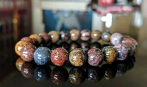 Natural PIETERSITE bead bracelet for MEN (Stretch) AAA 10mm - 8