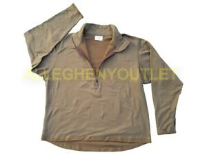 US Military Gen 3 Cold Weather Grid Fleece Midweight Shirt Coyote S-L NEW