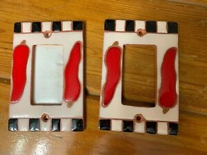 European Light switch Plate Covers~2~ Red Jalapeño Peppers