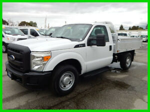 2012 Ford F-250 XL Used 2012 Ford F250 8.5' ALUMINUM FLATBED with Drop Down Sides