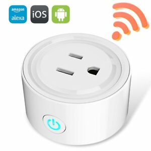 Mini WiFi Smart Remote Control Timer Switch Power Socket Outlet US Plug White