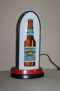 SCARCE 1930's LONE STAR BEER TEXAS REVERSE GLASS BULLET LIGHTED SIGN