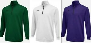 Nike Mens Dri-fit Long Sleeve 12 Zip Pullover 642039 Green Purple White Blu $65