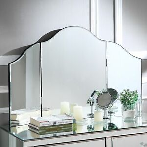 Vanity Tri Fold Mirror Makeup Cosmetic Beauty Tabletop for Dresser $57.05
