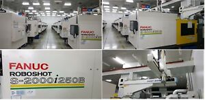 201213 Fanuc Roboshot 250ton Electric Injection Molding Machines With Robot