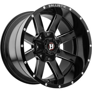 22x12 Black Rage 8x6.5 & 8x170 -44 Wheels Open Country AT II Tires