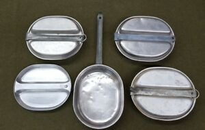 WWII Military Mess Kit Pot & Plate Combo Set of 4
