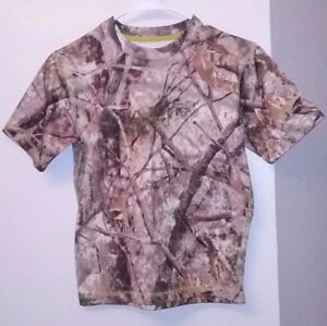 CABELA#x27;S CAMOFLAUGE FITTED WINTER THERMAL HUNTING SPORTING UNDER SHIRT EUC SZ M