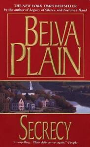 Belva Plain SECRECY Action Novel Book DRAMA Paperback SUSPENSE Tragedy 1998