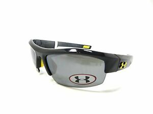 Under Armour Sunglasses IGNITER Shiny Black Gray New Authentic