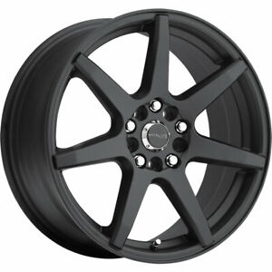 Raceline Evo 131B 16x7 4x1004x108 (4x4.25) +40mm Black Wheels Rims