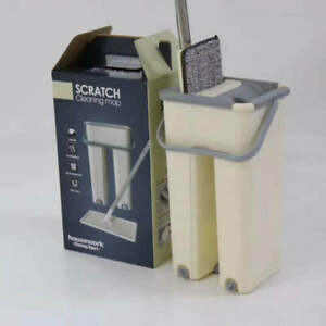 Self Cleaning Retractable Flat Mop Bucket System Microfiber Pads High Quality