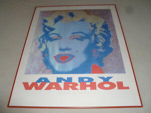 FRAMED ANDY WARHOL PRINT MARILYN MONROE 1989 NOUVELLES IMAGES FRANCE COLLECTION