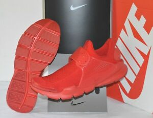 New $130 Nike Sock Dart KJCRD University Triple Red October Knit sz 10 Running