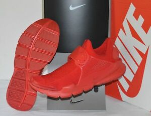 New $130 Nike Sock Dart KJCRD University Triple Red October Knit sz 12 Running
