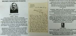 CIVIL WAR UNION SURGEON COMMANDER NJ GAR HUDSON RIVER TUNNEL DA LETTER SIGNED VF