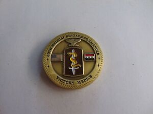 CHALLENGE COIN 30TH MEDICAL BRIGADE COMMANDER VICTORY MEDICS CJTF-7 SURGEON OEF