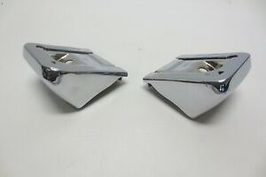 1963 CHEVY CHEVROLET STATION WAGON REAR BUMPER STEPS PAIR TRIM MOLDING ACCESSORY