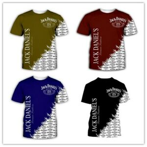 New Fashion WomenMen's 3D Print   Game of Thrones Jack Daniels  T-Shirts