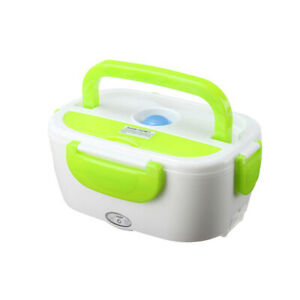 12V Portable Electric Heating Lunch Box Bento Travel Food Warmer 1.05L 40W