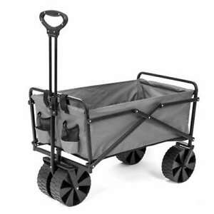 Seina Manual 150 Pound Capacity Utility Beach Wagon Outdoor Cart, Gray (Used)