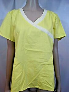 Medical Scrub Mock Wrap Top by Dickies Small New With Tag