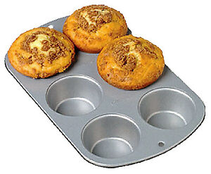 WILTON INDUSTRIES Recipe Right 6-Cup Non-Stick Muffin Pan 2105-953