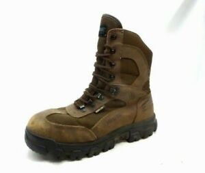 Wolverine Brown Leather Gore -Tex Insulated Work Boots Men's 11 M