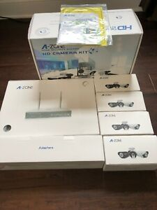 A-ZONE 4CH 1080P Wireless NVR Security System with 4Pcs 960P IndoorOutdoor Cam