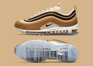 Nike Air Max 97 UNBOXED BARCODE SHIPPING BOX ALE BROWN WHITE 921826-201 sz 7-10
