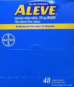 Wholesale lot 20 boxes Aleve Individual Sealed 1 Caplet in a Packet Exp-082020