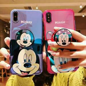 Cute Disney Mickey Minnie Blu ray Cover Phone Case for iPhone SE2 XR 11 Pro Max