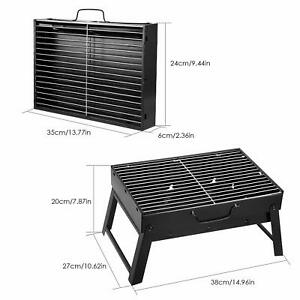 AGM BBQ Charcoal Grill, Folding Portable Lightweight Barbecue Grill