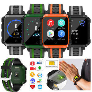 4G WIFI Bluetooth SmartWatch HD Camera GPS Video Call Unlocked Phone For Android