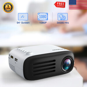 Portable HD 1080P Video Home Theater Multimedia Projector Android Wifi USB HDMI