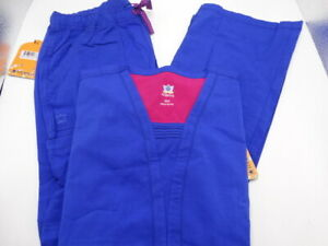 Medical Scrub Set Maevn Royal Pant #9314 amp; Top #1314 Small New