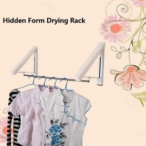 Retractable Wall Hanger Stainless Steel Waterproof Foldable Clothes Drying Rack