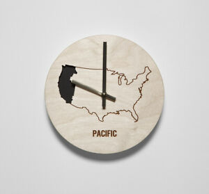 Reed Wilson Design: Pacific Time Zone Wall Clock