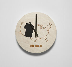 Reed Wilson Design: Mountain Time Zone Wall Clock