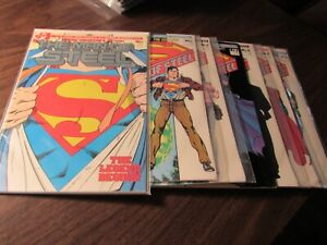 The Man of Steel #1 1 2 3 4 5 6 1986 Comic Book Set 1-6 Complete Both #1 Covers