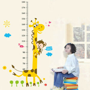 Removable Height Chart Measure Wall Sticker Decal for Kids Baby Room Giraffe vbn