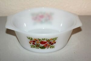 Arcopal France Casserole Dish 1.5qt with French Hens Partridges no lid Lot#864