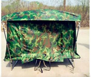 Camping 4x4 Tube Bed Mattress Cot Off Ground Tent Hunting Camouflage Woodland