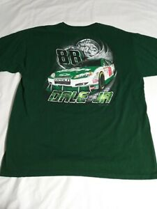 Dale Earnhardt Jr. Nascar amp T Shirt Green Chevy Size XL vintage