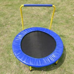 Youth Jumping Round Trampoline 36inch Exercise WSafety Pad Enclosure Kids 03